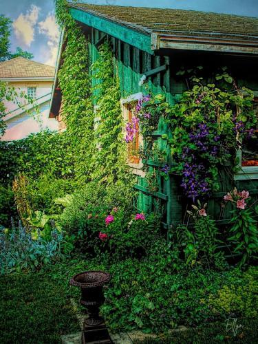 poet's house in a garden